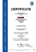 ISO 50001:2011 Certificate