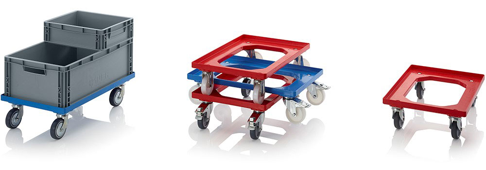 AUER Packaging Compact transport trolleys with polyamide wheels Title image