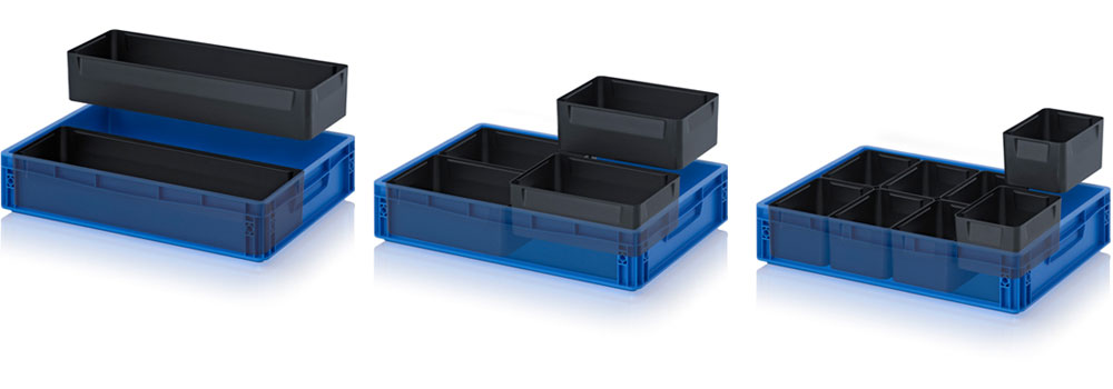 AUER Packaging ESD insertable bins for ESD Euro containers Title image