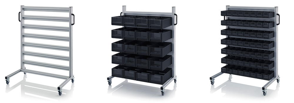 AUER Packaging ESD system trolleys for rack boxes Title image