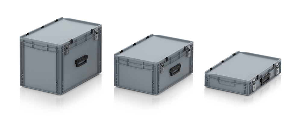 AUER Packaging Euro container cases with 2G locking system Title image