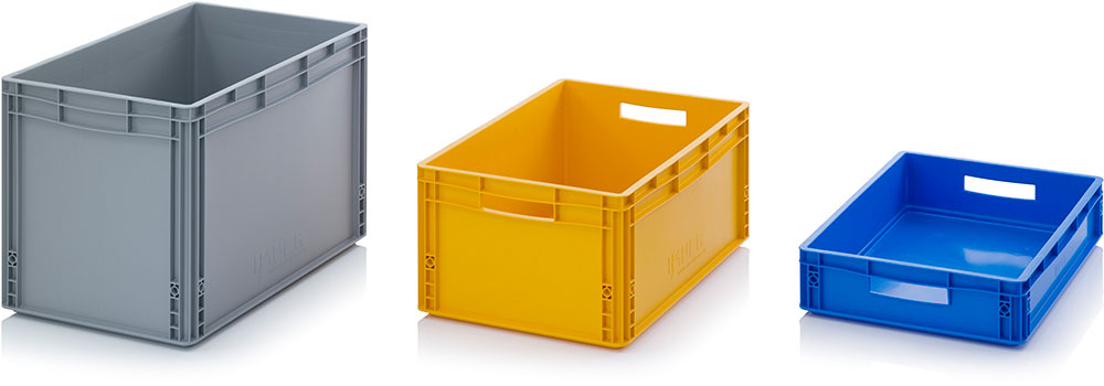 Euro containers with closed surface auer packaging for Surface container