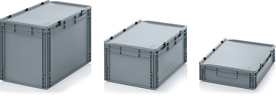 AUER Packaging Euro containers with hinge lid Title image