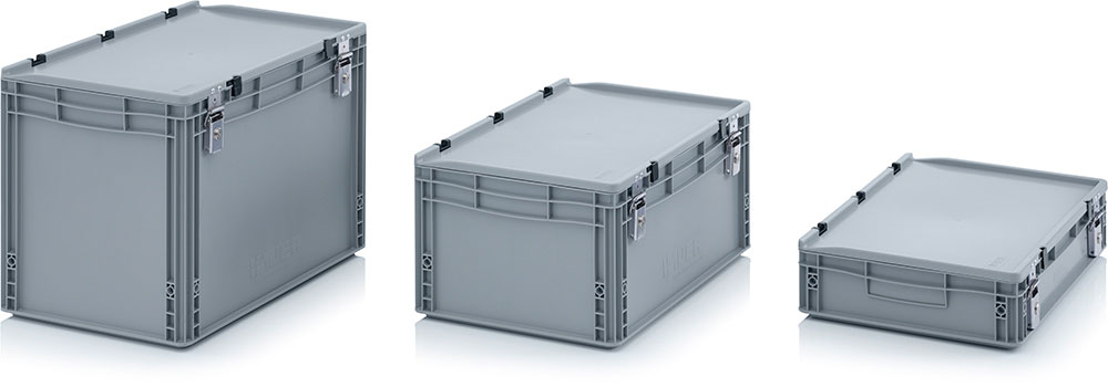 AUER Packaging Euro containers with locking system Title image
