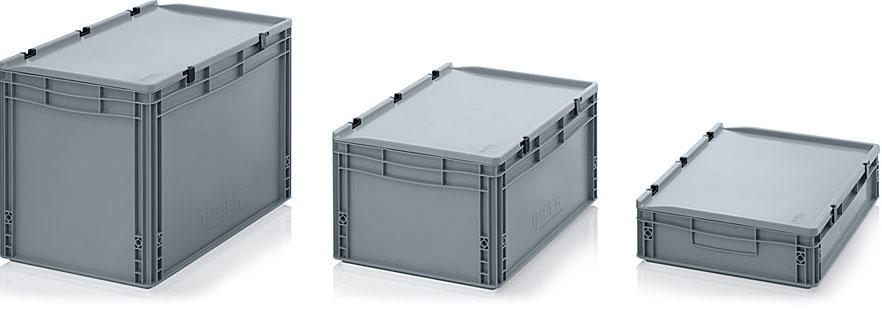 AUER Packaging Euroboxen met scharnierdeksel Titelafbeelding