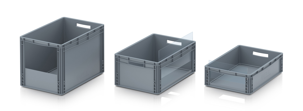 AUER Packaging Storage boxes with open front Euro format Title image