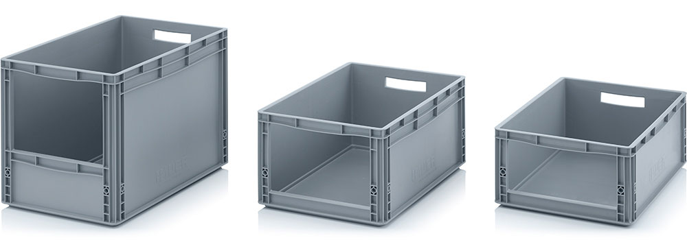 AUER Packaging Storage boxes with open front Euro format SLK Title image
