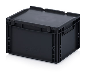 AUER Packaging ESD Euro containers with hinge lid Category image
