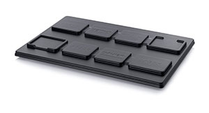 ESD pallet place-on lids Multi-purpose