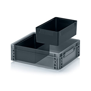 Insertable bins 2 crosswise compartments
