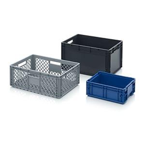 5 Faltboxen 67L o.Deckel 60x40x32 cm Auer Faltboxen Kunststoffboxen Stapelkiste