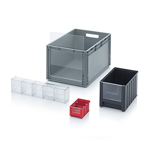 Storage boxes with open front Category image
