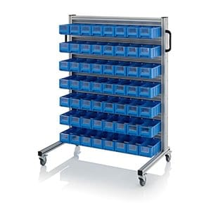 System trolleys for rack boxes