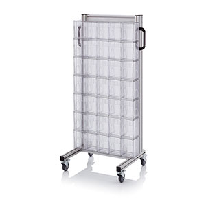 AUER Packaging System trolleys for tipping boxes