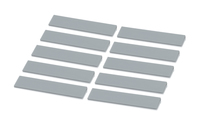 Set of 10 labels silver grey<br><small>SB E-7001 S</small>