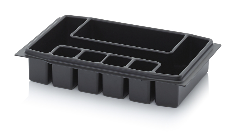 AUER Packaging Deep-drawn tool box inserts 40 x 30 cm Deep-drawn insert 6 compartments