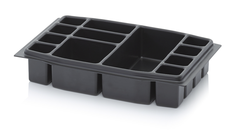 AUER Packaging Deep-drawn tool box inserts 40 x 30 cm Deep-drawn insert 12 compartments