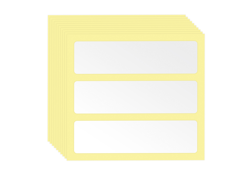 AUER Packaging Drawer rack accessories 10 sheets of 3 rack drawer adhesive labels