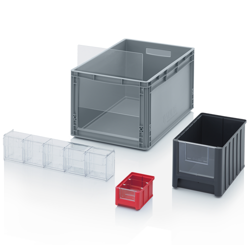 Storage boxes with open front