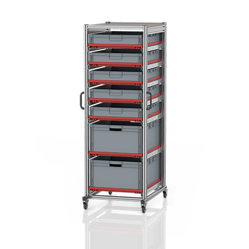 System trolleys for Euro containers